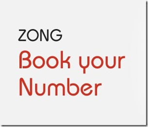 Book Your Zong Number