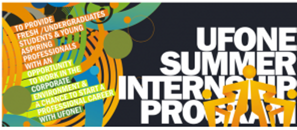 Ufone Summer Internship Program 2013