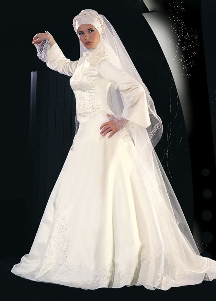 Pics Of Muslim Wedding Gowns : A line muslim beautiful wedding gowns